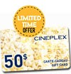 Free contest : HALLOWEEN SPECIAL: A Cinema Cineplex Gift Card of 50$